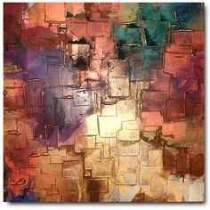 Original Abstract Art by Caroline Ashwood - Textured Gold and browns... ($430) ❤ liked on Polyvore featuring home, home decor, wall art, backgrounds, art, pictures, fondos, detail, embellishment and gold wall art