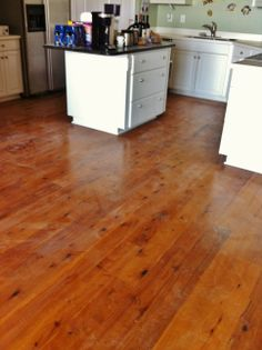 Pre-finished pine flooring