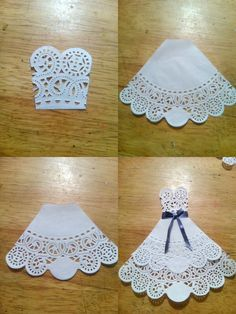 Wedding Card, Mr and Mrs, Bride and Groom Congratulations Card, Tuxedo - Wedding Gown Card, to my daughter on her wedding day Paper Doily Crafts, Doilies Crafts, Paper Crafts Origami, Paper Doilies, Bridal Shower Cards, Bridal Shower Decorations, Wedding Cards Handmade, Wedding Gifts, Doily Wedding