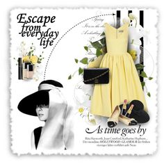 As time goes by - Audrey Hepburn by amaryllis on Polyvore featuring Preen, Chanel, Yves Saint Laurent and vintage