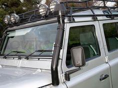 RAISED AIR INTAKE SERIES IIA, III, DEFENDER GALVANISED + POWDER COATED, RNA2002 - Rovers North - Classic Land Rover Parts
