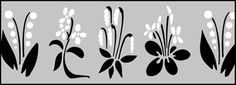 "TR135 - Tapestry Flowers stencil design from The Stencil Library. 3.4 x 9"" (86 x 229mm), £10.75"