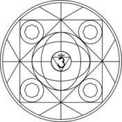 Mandala con Símbolo de Ajna Dibujo para colorear