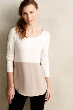 Mela Colorblocked Top #Anthropologie