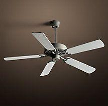 "Bistro 52"" Ceiling Fan Dark Galvinized with Whitewashed Oak   Ceiling Fans   Restoration Hardware"
