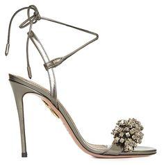 Osorio says he designs statement styles like the Monaco crystal-embellished metallic leather sandal to make women feel 'beautiful and comfortable.'