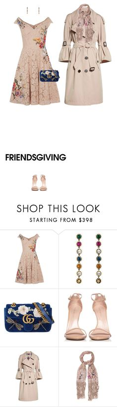 """""""Untitled #906"""" by diaval ❤ liked on Polyvore featuring Karen Millen, Gucci, Stuart Weitzman, Burberry and Valentino"""