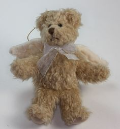 Russ Brand Angel Teddy Bear Christmas Tree Ornament with Tags