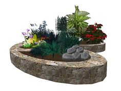 Mkp Double Oval And Round Stone Planters 5 700xx345