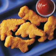 Dinosaur chicken nuggets, because who wouldn't love to eat those?!?