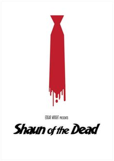 Shaun of the Dead Minimalism Movie Poster by Sabrina Jackson.