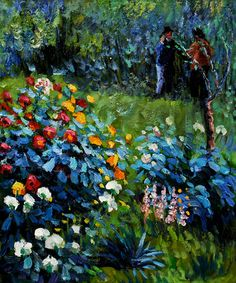 Garden in the Rue Cortot - Renoir
