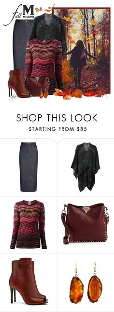 """""""Missoni sweater and poncho"""" by dgia ❤ liked on Polyvore featuring GE, dVb Victoria Beckham, Missoni, M Missoni, Valentino and Tory Burch"""