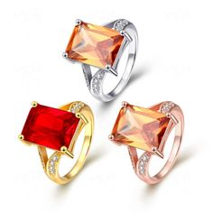 High-End Ruby Couple Rings - 9-9-rings