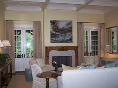 curtains above french doors