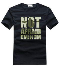 NOT AFRAID Eminem rock Cotton T-shirt