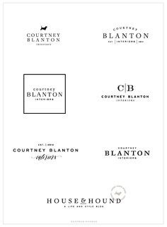 Interior design Logo Fonts, Brand and Web Design Courtney Blanton Interiors Saffron Interior 2 Logo, Bold Logo, Typography Logo, Typography Design, Logo Branding, Lettering, Badge Logo, Branding Ideas, Corporate Branding