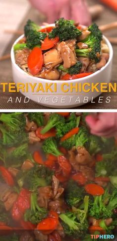 Teriyaki Chicken and Vegetables Recipe | This has got to be the easiest Teriyaki Chicken recipe! You can whip up this tasty dish in under 30 minutes making it perfect for those rushed weeknight dinners. Click to watch how easy it all comes together.  #familydinner #weeknights #easyrecipes #takeout #yum