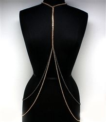 This figure flattering, one of a kind, body chain is just what you need to add to your wardrobe! You will turn heads wearing this beautiful unique shoulder necklace! $21.99
