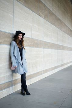 Grey + Black | winter fashion | winter style | cold weather fashion | styling for winter | how to style a cardigan | outerwear fashion | styling for winter | fashion for winter || The Girl in the Yellow Dress