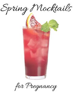 Spring Mocktails for Pregnancy. These are so fun and delicious! Yummy drinks for when you can't actually drink!