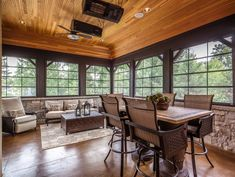 Traditional Porch with exterior stone floors, Screened porch Screened Porch Designs, Screened In Porch, Traditional Porch, Stone Flooring, Gazebo, Home Improvement, Patio, Mansions, House Styles