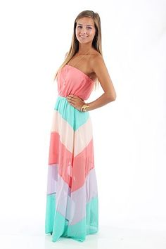 Candy Land Maxi Dress, coral