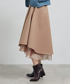 UNITED TOKYO WOMENS(ユナイテッドトウキョウウィメンズ)のリバーシブルオーガンジースカート(スカート)|アイボリー