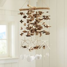 driftwood and shell mobile.. very cool!