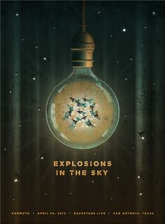Explosions in the sky | Showcase of Creative Gig Posters | Website maken blog