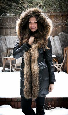 Geller Down Jacket With Fur Trim Long Fur Coat, Chic Winter Outfits, Fur Fashion, Fasion, Puffy Jacket, Down Parka, Contemporary Fashion, Nyc, Fur Trim