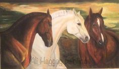 Three Horses  By Ali Haggag from Alexandria Egypt