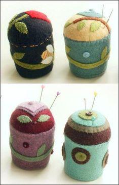 Folk Art Pincushions | Craftsy