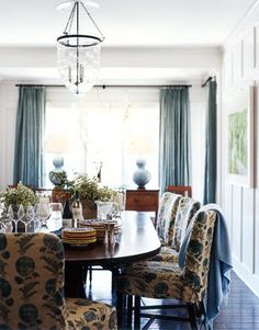 floral fabric on chairs ~ Kristen Panitch designs
