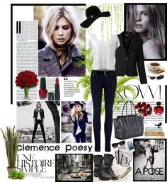 """""""Style of Clémence Poesy"""" by firstclass1 ❤ liked on Polyvore"""