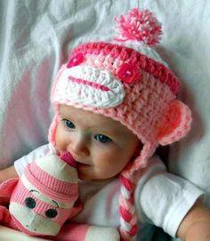 13 Modelos de gorros tejidos especiales para bebés (13) Modelos De Gorros  Tejidos 9309a39a627