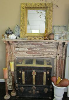 Vintage Finds: Fall Mantel