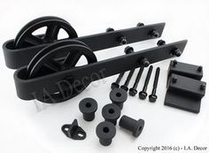 Barn Door Hardware Sliding Kit no rail option Spoked by IADECOR