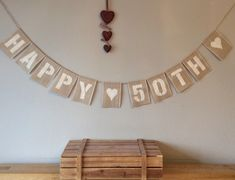 A personal favourite from my Etsy shop https://www.etsy.com/uk/listing/235738980/50th-birthday-bunting-banner-vintage