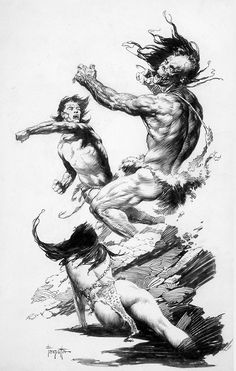 Frank Frazetta - Drawing