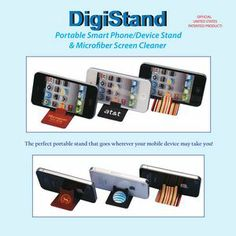 Microstand Desk- Portable Smart Phone Stand & Screen Cleaner