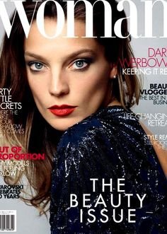 Daria Werbowy for Woman Magazine Nov. 2015 | Fashion photography | cover