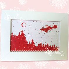 """""""Fly By Night Operation"""" Framed Christmas Silhouette by LilyOake, on ETSY for $10.00 + shipping"""