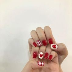 What manicure for what kind of nails? - My Nails Cherry Nails, Manicure, Korean Nail Art, Dream Nails, Sparkle Nails, Pastel Nails, Toe Nail Designs, Cute Nail Art, Halloween Nails