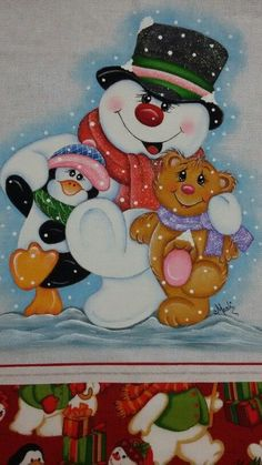 Snowman and friends pieces) Christmas Yard Art, Christmas Drawing, Christmas Clipart, Christmas Paintings, Christmas Printables, Christmas Pictures, Christmas Snowman, Vintage Christmas, Christmas Crafts