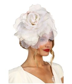 Jane Tran Large White Silk Flower Headband  I wanna try to make something like this for the Kentucky Derby-themed Covenant Hospice Gala!