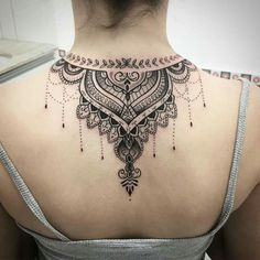This article is also about Latest Hand Mehndi Designs 2018 for Girls and here you will find some of Latest Mehndi Designs 2018 that will make your heart. Mehndi Tattoo, Henna Tattoo Back, Henna Tattoo Designs, Back Tattoos, Body Art Tattoos, Tattoo Life, P Tattoo, Necklace Tattoo, Tattoo Hals