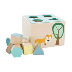 We think wooden toys are the best! Here are 10 Wondrous Wooden Toys for Kids that are super fun, educational and are sure to keep them entertained. Wooden Toy Boxes, Toddler Age, Wooden Shapes, Wood Toys, Diy Toys, Cubes, Cool Gifts, Baby Shop, Toy Chest