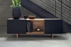 Drilling into walls isn't for everyone, but that doesn't mean you can't have the LAXseries3X Shelf. Our take on the credenza sits console style and has just the right amount of space to store everything you need.