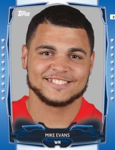 TOPPS-HUDDLE-BLUE-BOOST-MIKE-EVANS-TAMPA-BAY-BUCCANEERS-ONLY-150-EXIST